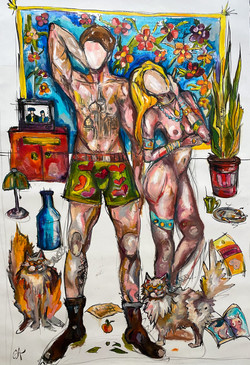 Leave_us_alon_canvas_oil-ink_90_140cm.JP