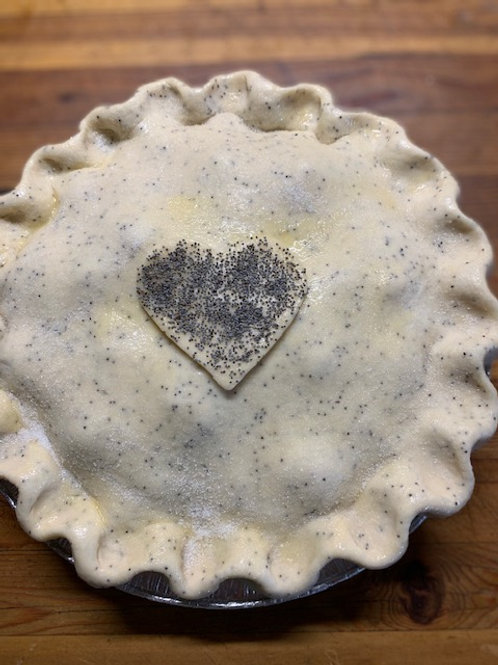 Razzleberry Pie with Poppy Seed Crust