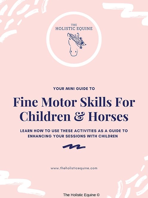 Fine Motor Skills For Working with Children and Horses