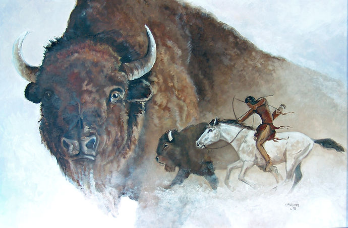 The Buffalo Hunter Oil Painting