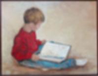 Benjamins Book Oil Painting