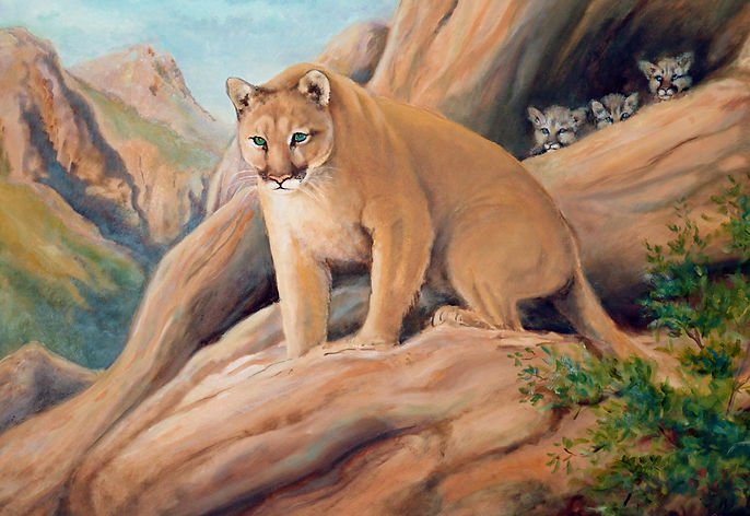 Mountain Mama Oil Painting