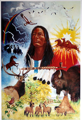 Black Elk's Vision Painting