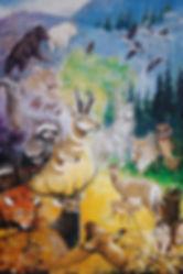 Rocky Mountain Wild Painting