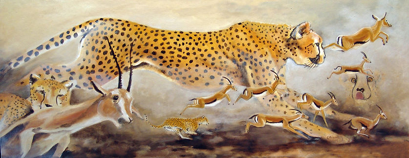 Cheetahs Painting CaMary Wynne