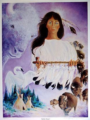 The Buffalo Woman Painting