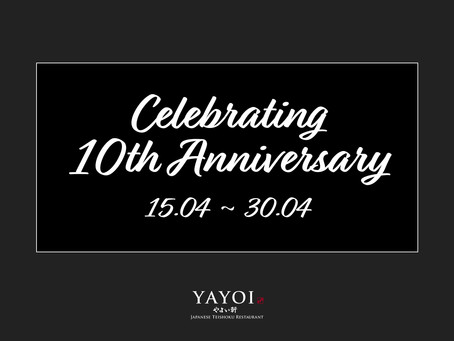 Celebrate 10th Anniversary with YAYOI Singapore!