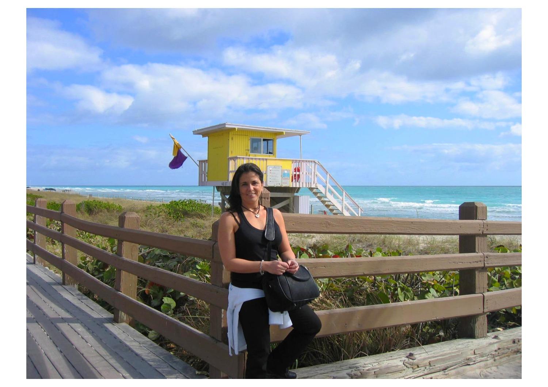 Evelyn ci saluta da Miami