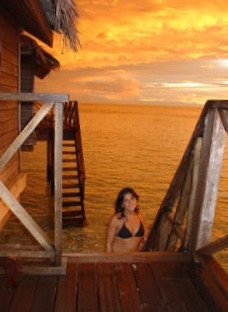 La nostra Evelyn ci saluta dalle Maldive