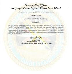 U.S. Navy Reference Letter