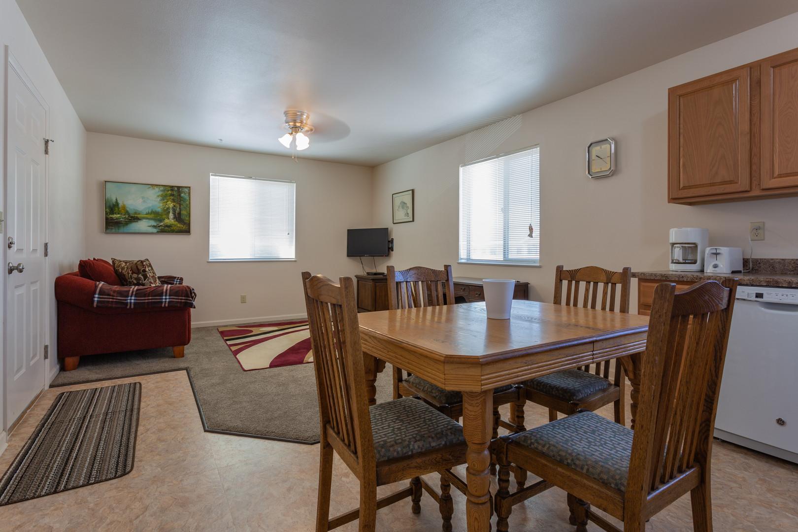 Kiva 1 BR Kitchen, Living Room
