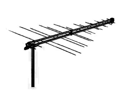 Hills antenna on roof; Digital Antennas and TV points