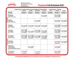 Preschool Fall 2021