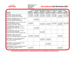 Recreational Fall 2021