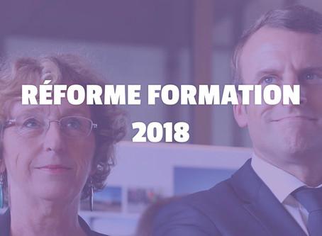 Réforme de la formation professionnelle et prévention.