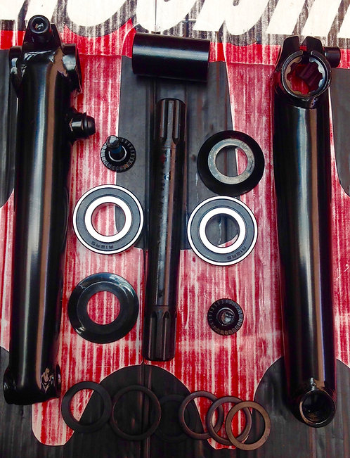 PALANCAS R-20 KELLY C/BALEROS MID 3 PIEZAS 8H19MM NEGRO