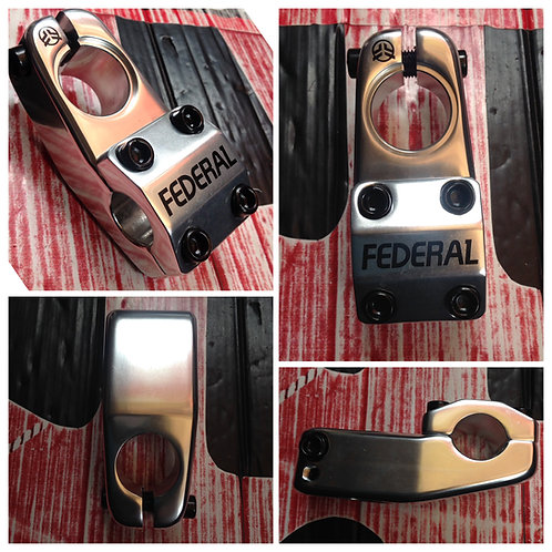 POSTE TOPLOAD FEDERAL ELEMENT 50MM PLATA