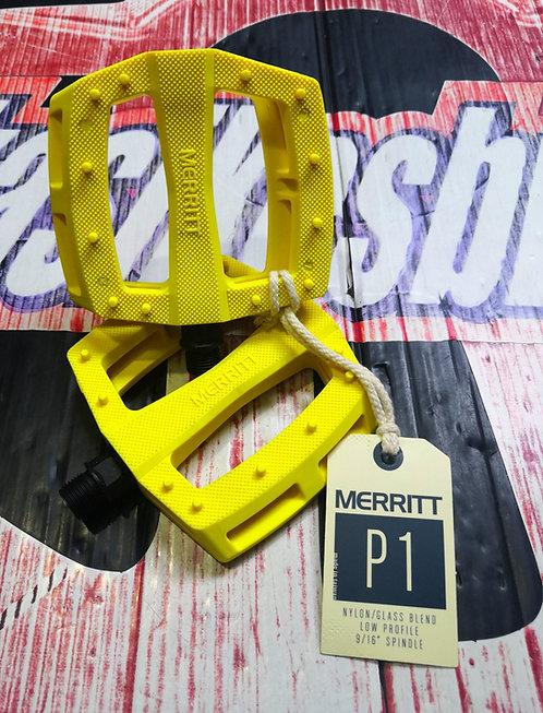 PEDALES MERRITT P1 PAR AMARILLO