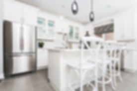 white Custom kitchen cabinets - kitchen renovation - toronto