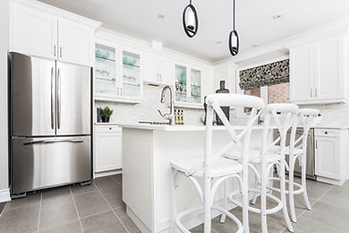 White Kitchen with Vinyl Floor