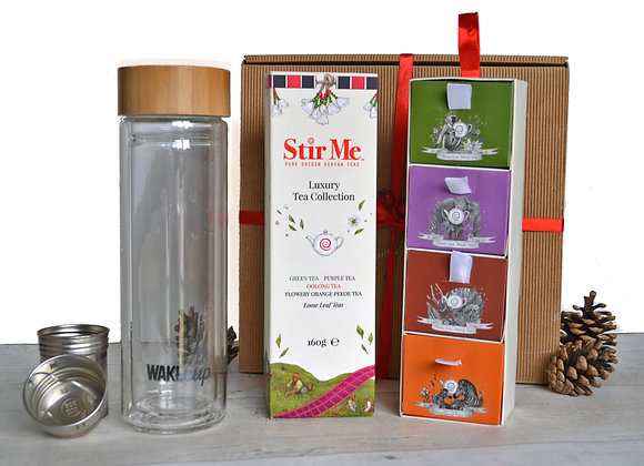 Glass tea infuser and luxury tea box