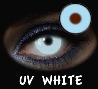 LENTILLA FANTASIA 1 DAY GLOW UV WHITE 2PK