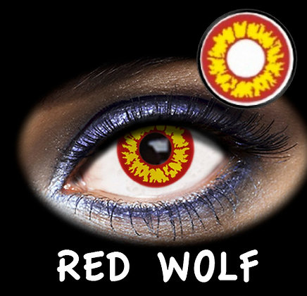 LENTILLA FANTASIA 1 DAY RED WOLF 2PK