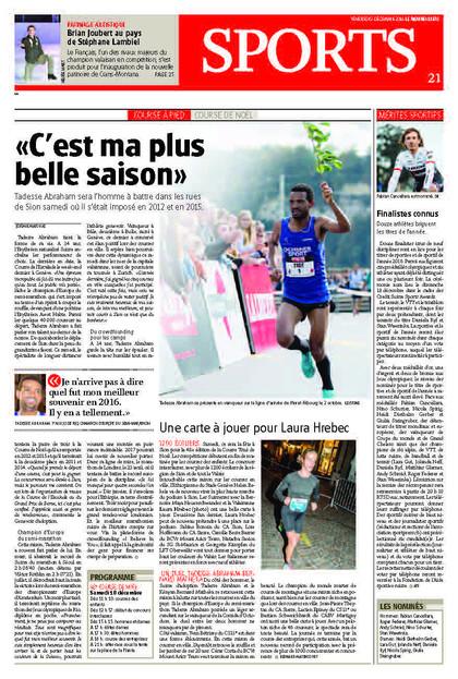 Le Nouvelliste, 09.12.16