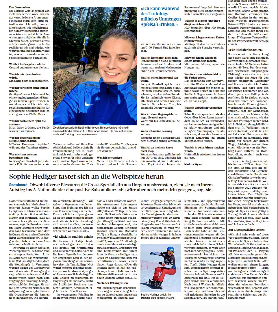 Zürichsee-Zeitung 31. März 2020