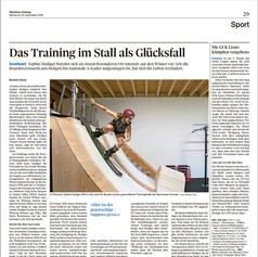 Sophie Hediger - Zürichsee Zeitung September 2019