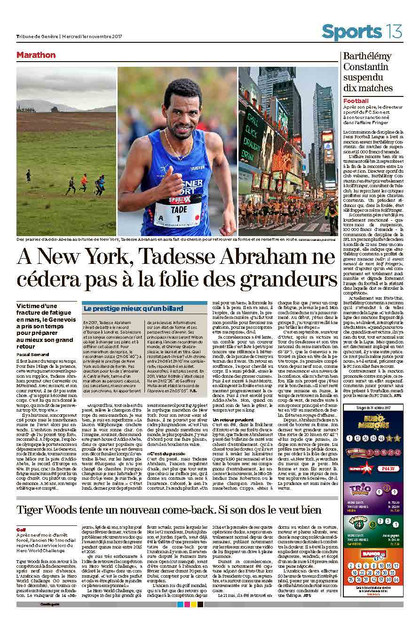 Tribune de Geneve, 01.11.17