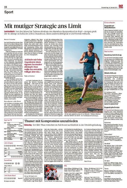 Basler Zeitung, 24.01.2019
