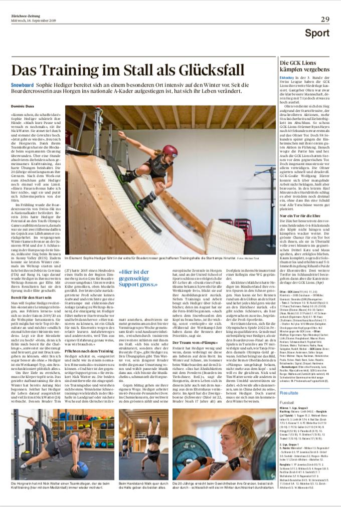Zürichsee-Zeitung 18. September 2019