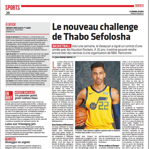 Le Journal du Jura September 2019
