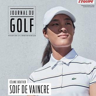 Journal du Golf front Céline Boutier
