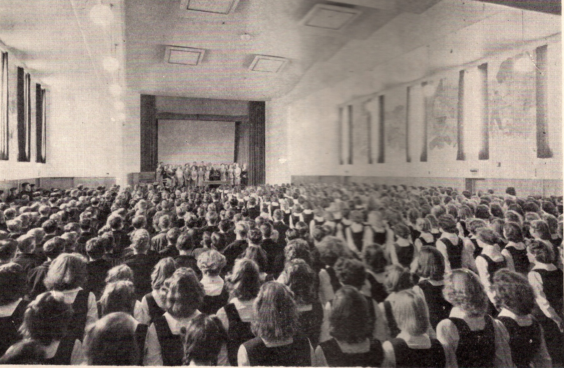 1947 Morning Assembly in the Hall