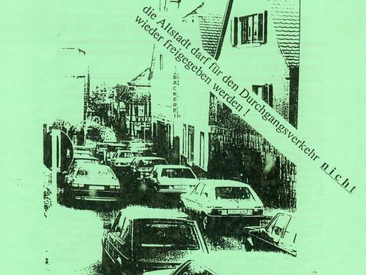 ...seit mehr als 25 Jahren das Thema: Verkehrsführung in der Altstadt