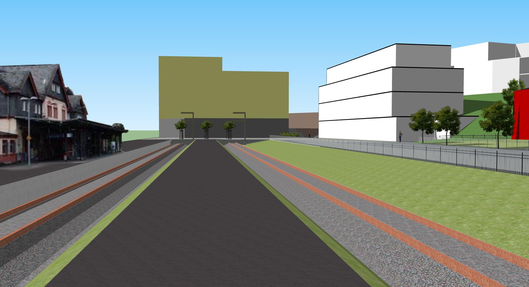 Blick vom 2. Bahnsteig