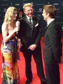 Boris Becker und Jenson Button