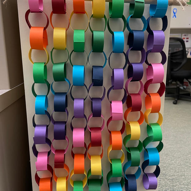Paper Chain Wall Hangings