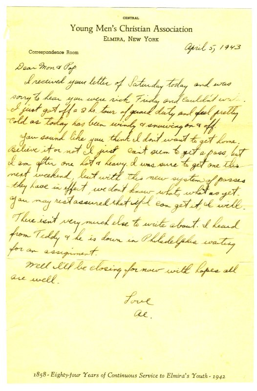 Letter, 5 April 1943