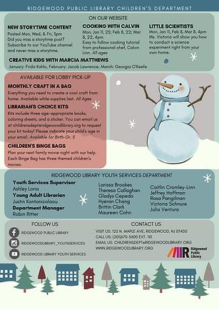 Revised Winter Children's Brochure 2021.