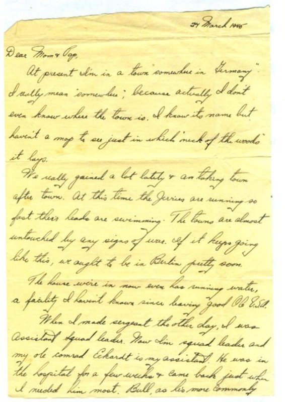 Letter, 24 March 1945