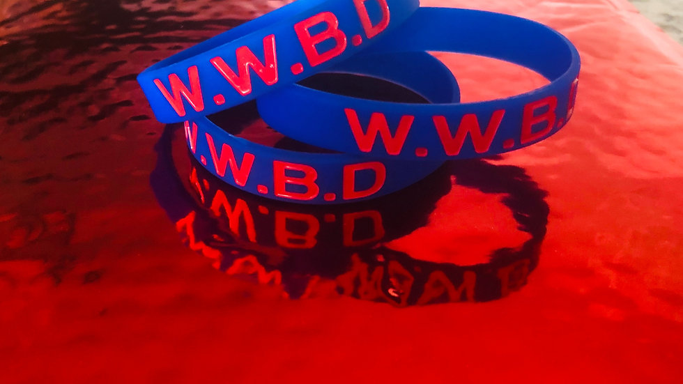 WWBD Wristbands-Blue