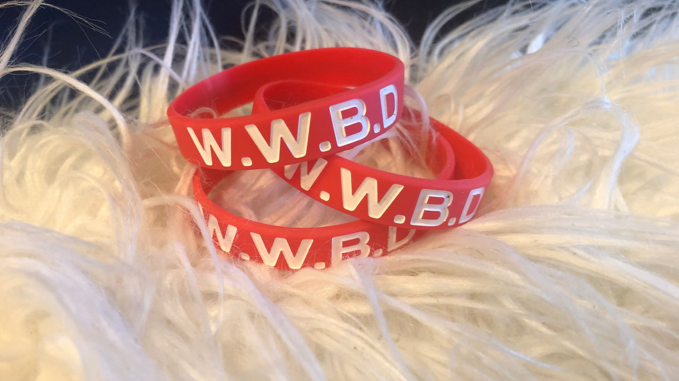 WWBD Wristbands-red