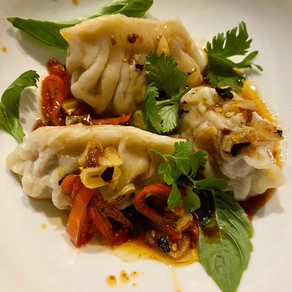 CHINESE PORK AND SPROUT DUMPLINGS