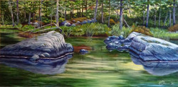 SOLD 'Blue Rocks on Cronk Lake'.