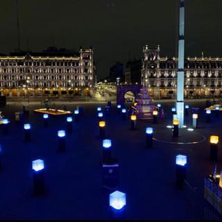 vol. 3 - Instalación lumínica de la mega ofrenda Día de Muertos 2018 en el zócalo de la Ciudad de México 📸 jeselor