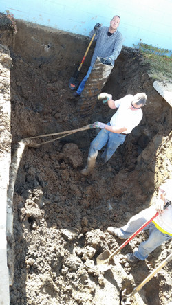 Pulling Out Old Vacuum Line