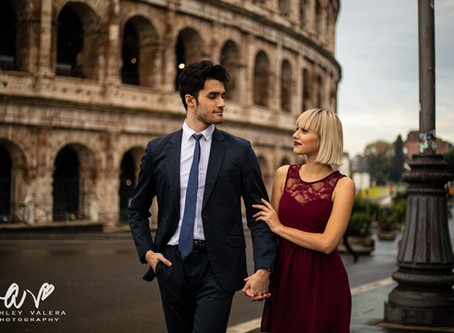 Rome, Italy Engagement Session At The Colosseum | Ashley Valera Photography